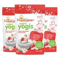 美国直邮 Happybaby禧贝 草莓酸奶溶豆 28g*3袋 海外购