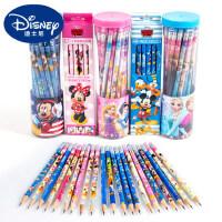 迪士尼儿童安全hb带橡皮头铅笔30支小学生用卡通铅笔桶装文具批发