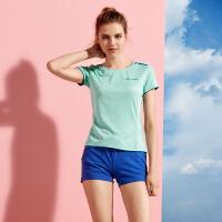 【过年不打烊】【2件5折】361度短袖T恤女装夏季时尚薄款百搭圆领跑步运动衫