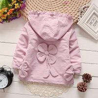 女童外套风衣春季童装女宝宝长袖上衣春秋装1-3一4岁
