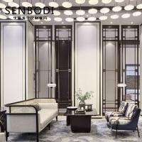 港式意式沙发家具 新中式洽谈沙发组合 售楼处部接待工程定制 组合