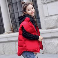 纤纯伊新款秋冬装棉服女韩版时尚学生马甲短款无袖背心外套上衣