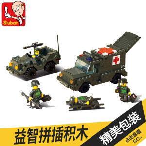 【当当自营】小鲁班陆军部队军事系列儿童益智拼装积木玩具 救护车M38-B6000