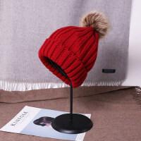 韩国针织帽加绒保暖韩版护耳帽休闲百搭毛线帽帽子女潮