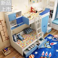 多功能高低床双层床上下床带衣柜储物组合床家具定制 +梯柜