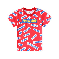 【2件5.5折到手价:52】小猪班纳男童短袖T恤女童圆领上衣儿童夏装洋气童装纯棉亲子装