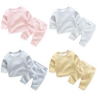 家居服婴儿童棉睡衣珊瑚绒秋冬季加厚法兰绒男童女童宝宝长袖套装