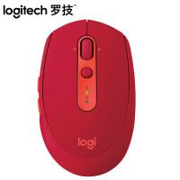 罗技(Logitech) M590多设备静音无线鼠标 蓝牙鼠标 红