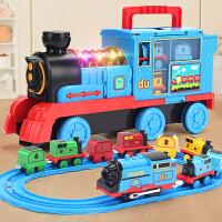 仿真小火车轨道套装玩具电动儿童男孩汽车合金模型益智力动脑