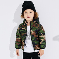 【2件3折到手价:118】小猪班纳儿童羽绒服迷彩款男童冬季童装宝宝外套连帽外衣小童上衣