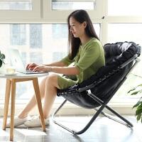 创意休闲时尚阳台懒人躺椅单人沙发榻榻米可折叠椅子客厅卧室家用