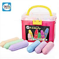 美乐 儿童彩色大粉笔无尘户外大粉笔 粉笔套装小拎桶装20支装15色