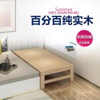 床加宽实木床松木床床架加宽床加长床板拼接床可定做 其他