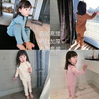 女童套装羊毛加厚高领秋衣高腰秋裤宝宝儿童保暖内衣套装