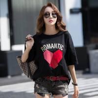 新款韩版棉白色短袖t恤女夏装宽松黑色半袖体恤衫ins上衣潮