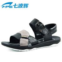 七波辉男童鞋 夏季新款男童皮凉鞋 舒适休闲皮凉鞋 男中童童凉鞋