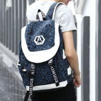 户外休闲双肩包男士背包男包新款韩版中学生书包旅行背包包
