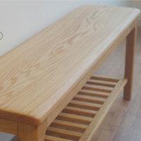 简约现代实木穿鞋凳换鞋凳储物凳黑胡桃木长凳换鞋柜玄关凳条凳