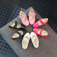 春秋儿童单鞋软底花朵女童皮鞋中大童公主鞋宝宝鞋
