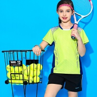 儿童羽毛球服短袖网球短袖速干运动裙裤短袖透气男童女童短袖套装