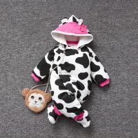 婴儿连体衣服冬季0岁6个月宝宝7冬装新生儿靓仔衣服外出服