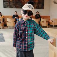 宝宝格子衬衣加厚女 双12新款冬装韩版童装儿童女童加绒衬衫保暖