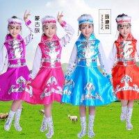 新款表演服儿童演出服女童筷子舞蹈服蒙古舞服裙装