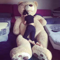 泰迪熊熊猫可爱1.6米2大熊超大号公仔抱抱熊毛绒玩具送女友娃娃女