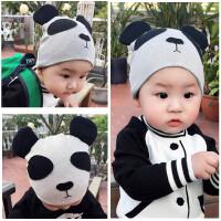 儿童帽子纯棉春秋冬夏婴儿欧美潮新生儿男女宝宝熊猫帽0-1-2-3岁