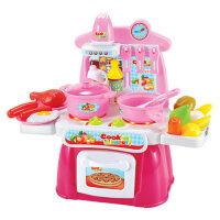 贝恩施儿童过仿真家家厨房玩具男女孩做饭煮饭餐具厨具套装3-6岁