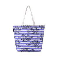 春夏新款几何图案个性简约帆布女包多功能大容量手提包