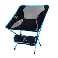 户外折叠椅子便携式超轻月亮椅航空铝合金钓鱼凳休闲靠背椅
