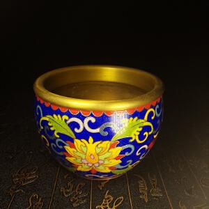 景泰蓝纯铜聚宝盆