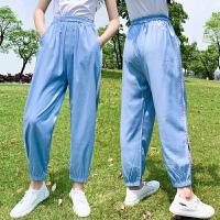 女童运动裤宽松薄款透气长裤夏季时尚大童休闲裤