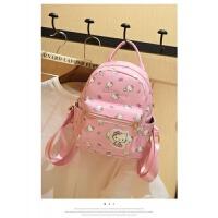 子妈咪儿童韩版中大童背包女童可爱PU双肩背包休闲旅行旅游包包