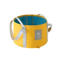 旅行可折叠便携式水盆旅游泡脚桶大号洗衣袋洗漱脸盆泡脚袋水桶