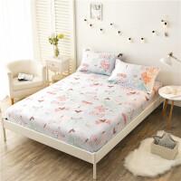 床笠全棉单件纯棉席梦思床垫保护套1.8m床套床单1.5m床罩