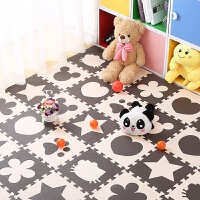 泡沫地垫卧室家用地板垫子爬爬垫儿童爬行垫拼接海绵垫 30x30x1.0cm (100片装) 送边条