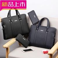 2018新款男包商务包男士手提包公文包横款单肩包斜挎包电脑包背包