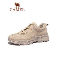 【满299减100 到手价:99】camel骆驼男鞋春季2019新款老爹鞋男潮流百搭英伦运动休闲鞋子厚底皮鞋