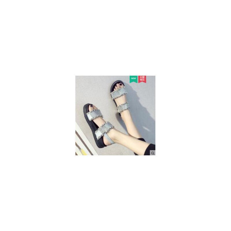 运动凉鞋女新款仙女风ins潮百搭学生网红女鞋罗马沙滩鞋 品质保证 售后无忧