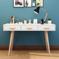 北欧简约台式电脑桌家用卧室多功能实木书桌小学生简易写字桌