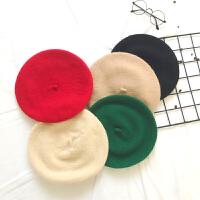 冬季婴儿童宝宝羊毛贝雷帽保暖帽可爱女童造型帽小童帽子