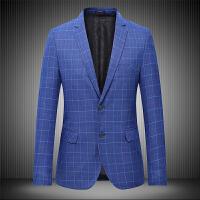 胖男士新款西服加大码L-7XL休闲便西两粒单排扣1青年外套修身西装