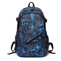 双肩包男休闲电脑包高中初中学生书包女时尚潮流背包大容量旅行包