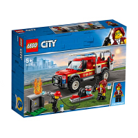 【当当自营】LEGO乐高积木城市组City系列60231 5岁+消防队长应急卡车
