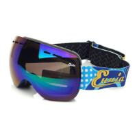 户外儿童滑雪镜 双层防雾雪镜 球面雪地护目镜 可罩近视