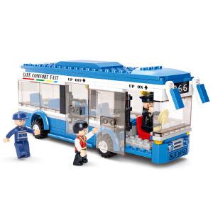 【当当自营】小鲁班模拟城市系列儿童益智拼装积木玩具 单层巴士M38-B0330