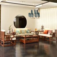 沙发组合沙发 现代实木禅意新中式沙发客厅整装具 组合