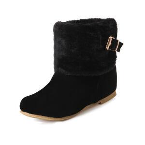 O'SHELL法国欧希尔新品冬季180-C-5韩版磨砂绒面内增高女士短靴雪地靴